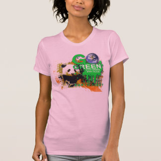 go green panda t-shirt