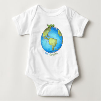 Go Green! - Peace on Earth Baby Bodysuit