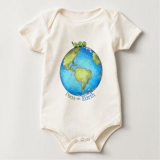 Go Green! - Peace on Earth Baby Bodysuits