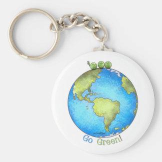 Go Green! - Peace on Earth keychain