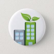 Go green pinback button