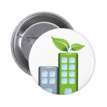 Go green pinback button
