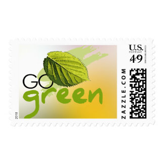 Go Green Postage Stamp