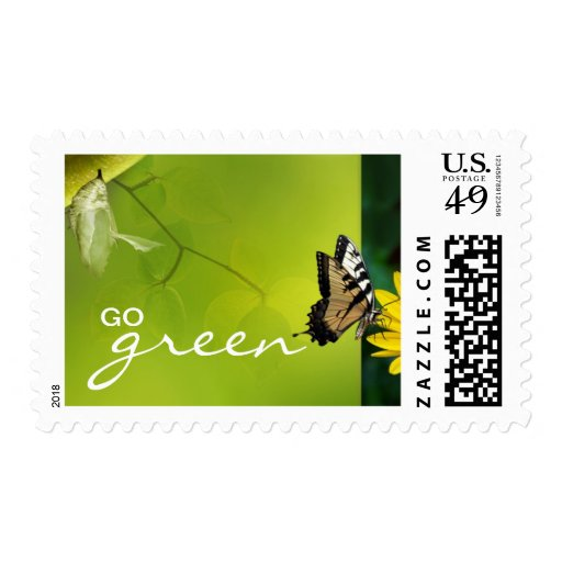 Go Green Postage Stamps