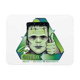 Go Green Rectangular Photo Magnet