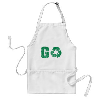 Go Green Recycle Adult Apron