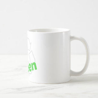 go green recycle coffee mug