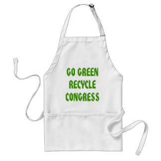 Go Green Recycle Congress Adult Apron
