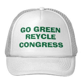 GO GREEN RECYCLE CONGRESS - IT'S CUSTOMIZABLE TOO! TRUCKER HAT