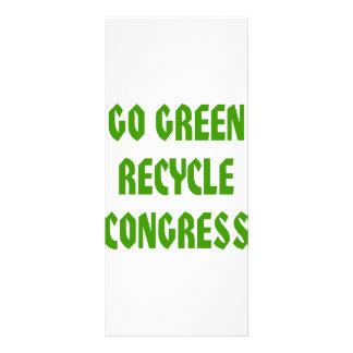 Go Green Recycle Congress Rack Card