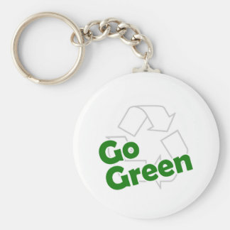 go green recycle keychain