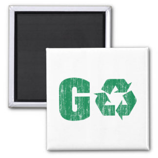 Go Green Recycle Magnet