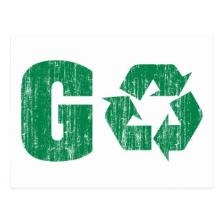 Go Green Recycle Post Card