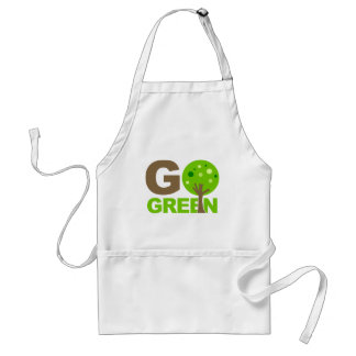 Go Green Recycle Tree Adult Apron