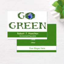 Environmentalist business cards visiting cards mgdezigns go green recycling company business cards reheart Image collections