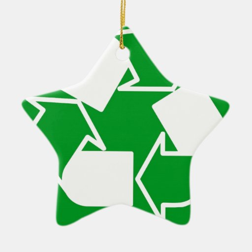 go green reduce recycle christmas ornament