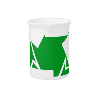 go green reduce recycle beverage pitchers