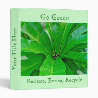 Go Green Reduce Reuse Recycle Binder