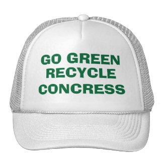 GO GREEN - REYCLE CONGRESS CAP TRUCKER HAT