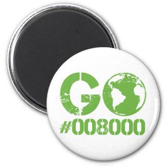 Go Green RGB CMKY 2 Inch Round Magnet