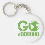 Go Green RGB CMKY Basic Round Button Keychain