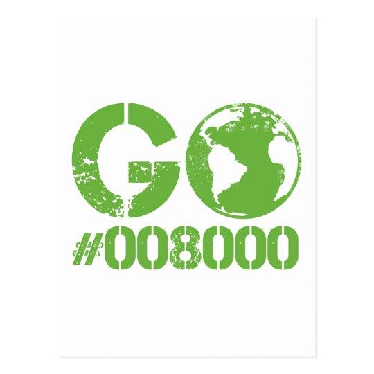 Go Green RGB Design Postcard