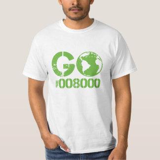 Go Green RGB Design T-Shirt