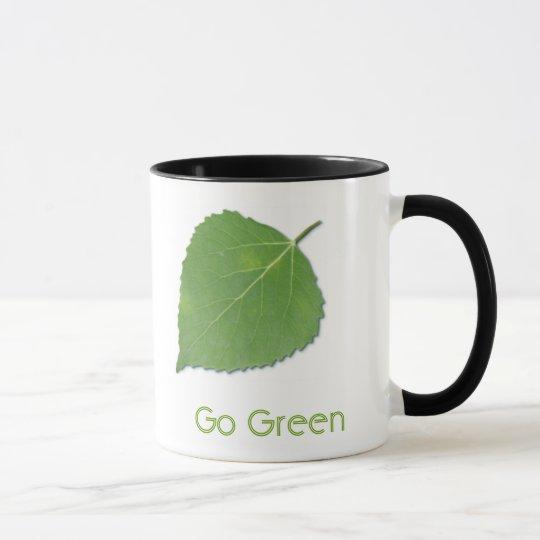 Go Green Ringer Mug 2 - Black Handle