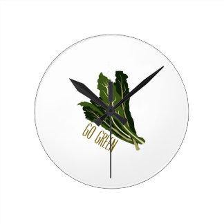 Go Green Round Clock