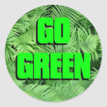 Go Green Round Sticker