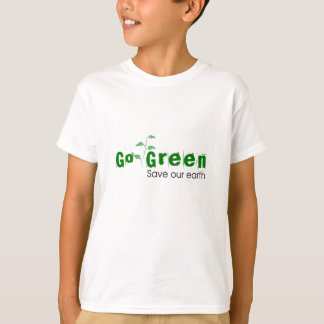 Go Green | Save Our Earth Kids T-Shirt