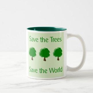 Go Green Save the Trees Save the World Coffee Mug