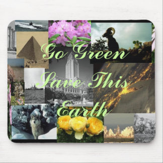Go Green Save This Earth Mouse Pad