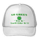 """GO GREEN - Shamrock - """"Try It""""  You'll Like It !!! Trucker Hat"""