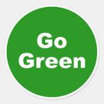 Go Green Sign Round Sticker