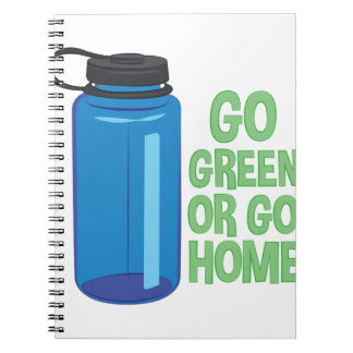 Go Green Spiral Notebook