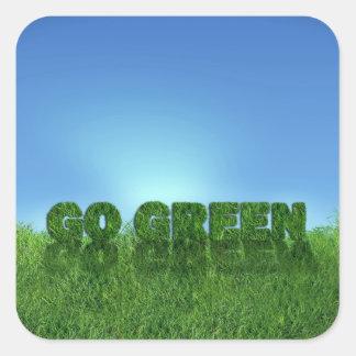 Go green square sticker