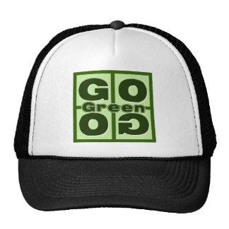 Go Green Square Trucker Hat