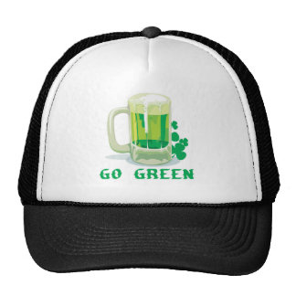 Go Green St Patricks Day Beer Trucker Hat