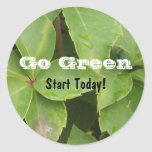 Go Green Start Today Stickers