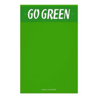 Go Green Stationery