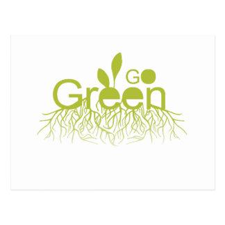 Go Green T-shirt Earth Day T-shirt Postcard