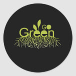 Go Green T-shirt / Earth Day T-shirt Classic Round Sticker