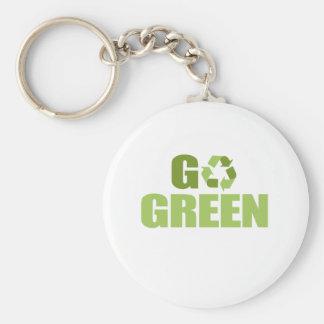 Go Green T-shirt Keychain