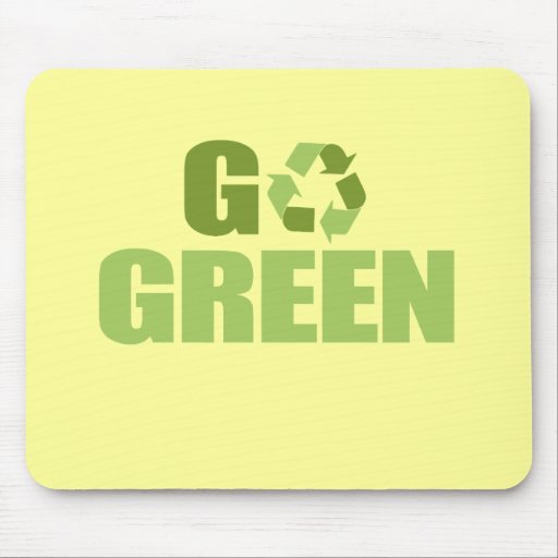 Go Green T-shirt Mouse Pads