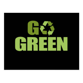 Go Green T-shirt Postcard