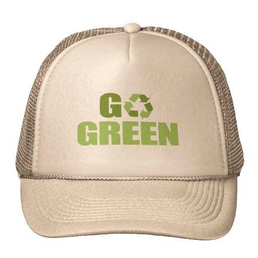 Go Green T-shirt Trucker Hat