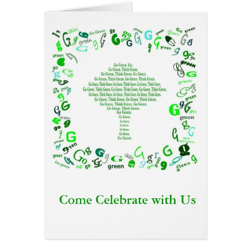 GO GREEN, THINK GREEN Tree in Letter G Card