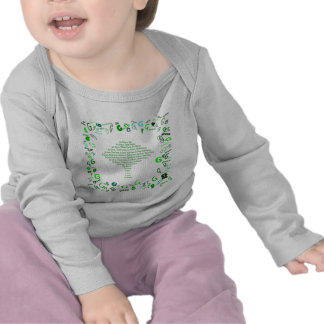 GO GREEN, THINK GREEN Tree in Letter G T Shirts