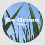 Go Green Today Stickers